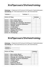 Kraftparcours/Stationstraining Klasse 11