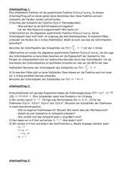 Lerntheke zu Definitions- und Wertemengen bei Funktionen
