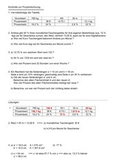 Kleiner Test zur Prozentrechnung