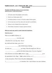 Classwork-test zu   GB and the sea  sowie    modals