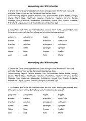 Übung Wörterbuch