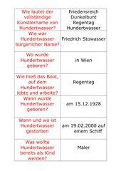 Quiz Friedensreich Hundertwasser