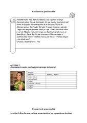 Una carta de presentación - tener -