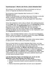 Barock: Johann Sebastian Bach- Musik in der Kirche- Gruppenpuzzle mit anschließendem Lückentext