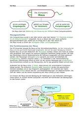 Informationsblatt über die Computermaus