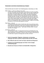 Arbeitsblätter zur Kinder- und Frauenarbeit