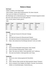Vertretungsstunde Biologie, Spiel Risiko, Wiederholung 5./6.