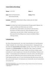 Klassensprecherwahl- Stundenentwurf