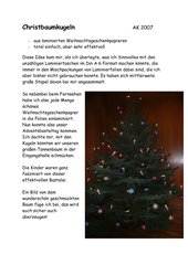 Christbaumkugeln ...