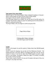Informationen über Wales