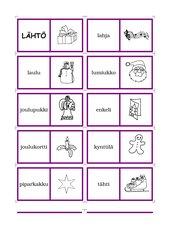Domino 19 Weihnachtsmotive (Finnisch)