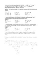 Lösen einer Linearen Gleichung