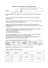 Übungsaufgaben zur Klassenarbeit Prozentrechnung + Lösung