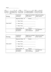 Hausizettel für Schüler und Eltern