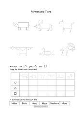 Geometrische Tierfiguren