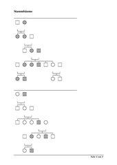 Arbeitsblatt zu gonosomalen und autosomalen Stammbäumen