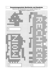 Flächenberechnung Rechtecke und Quadrate (1) mit Lösungen