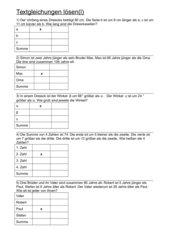 Textgleichungen lösen(I)