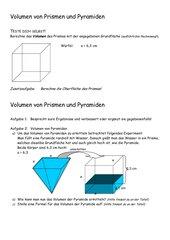 Volumen von Pyramiden