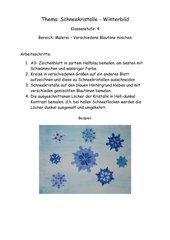 Winterbild mit Schneekristallen