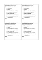 Checkliste für eine Inhaltsangabe für Schüler