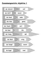 Zusammengesetzte Adjektive - Pfeilpuzzle