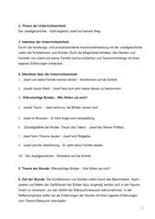Die Josefgeschichte – Gott begleitet Josef auf seinem Weg.