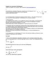 Aufgaben zum radiaktiven Zerfallsgesetz