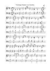 USA Stars and Stripes Nationalhymne vierstimmiger Satz