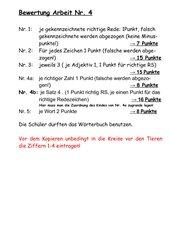 Deutsch-Arbeit Fabeln-wörtliche Rede