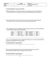 Lagerkennziffern Übungsaufgaben (Lernfeld 7)