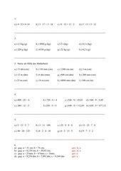 Vermischte Aufgaben Klasse 5 - 9