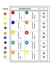 Darstellung der Zahlen 10 bis 20 - Logico-piccolo