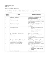 Langzeitplanung Hürdenlauf Klasee 7-9