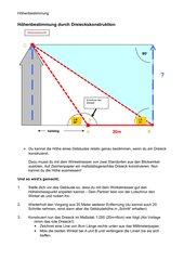 Höhenbestimmung durch Dreieckskonstruktion