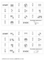 6 Dominos zum Zuordnen abgeleiteter Brüche