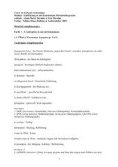 Wortschatz Wirtschaftsfranzösisch - Unité 1.1
