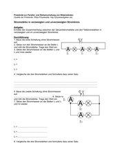 Arbeitsblätter Reihen- und Parallelschaltung
