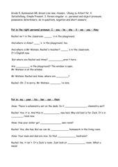 Grammar grade 5