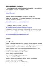 Le français des affaires sur et avec Internet (suite)