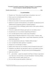 Les présentations orales en français