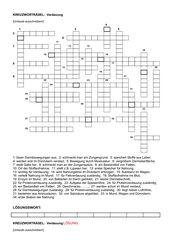 Kreuzworträtsel zur Verdauung
