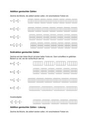 Addition und Subtraktion gemischter Zahlen