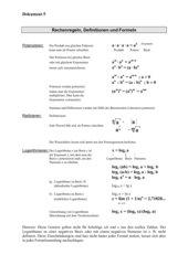 Infoblatt Potenzen/Logarithmen