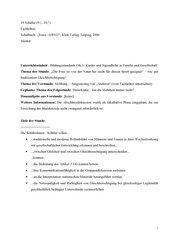 Geschlechterrollen (Gemeinschaftskunde 8. Klasse/ Gym. BW)
