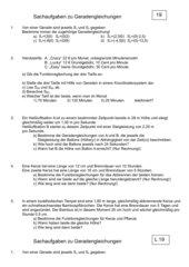 Sachaufgaben zu Gleichungen und Gleichungssystemen