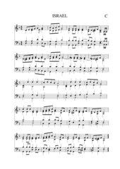 Israel Nationalhymne vierstimmiger Satz