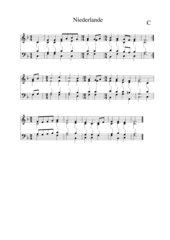 Niederlande Nationalhymne vierstimmiger Satz