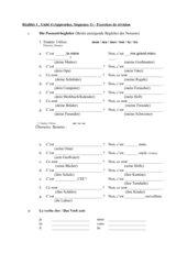 Exercices de révision Unité 4/ Réalités 1 (neu)