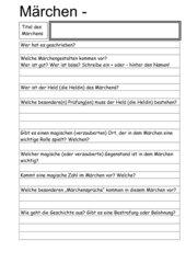 Märchen-Untersuchungsbogen